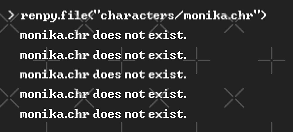 monika.chr does not exist. by lorihime