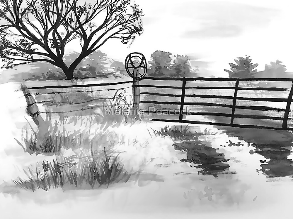 Old Country Fence by Melanie Anderson
