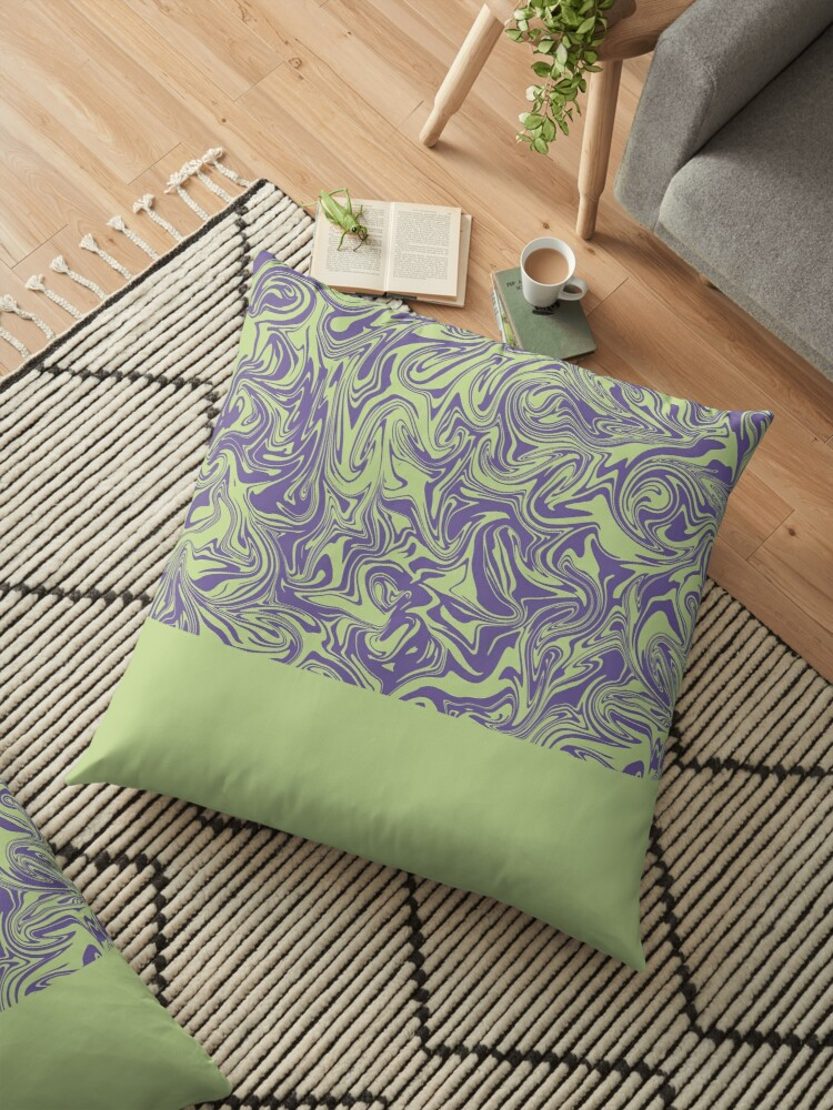 Liquid Swirl - Lettuce Green and Ultra Violet by Printables Passions