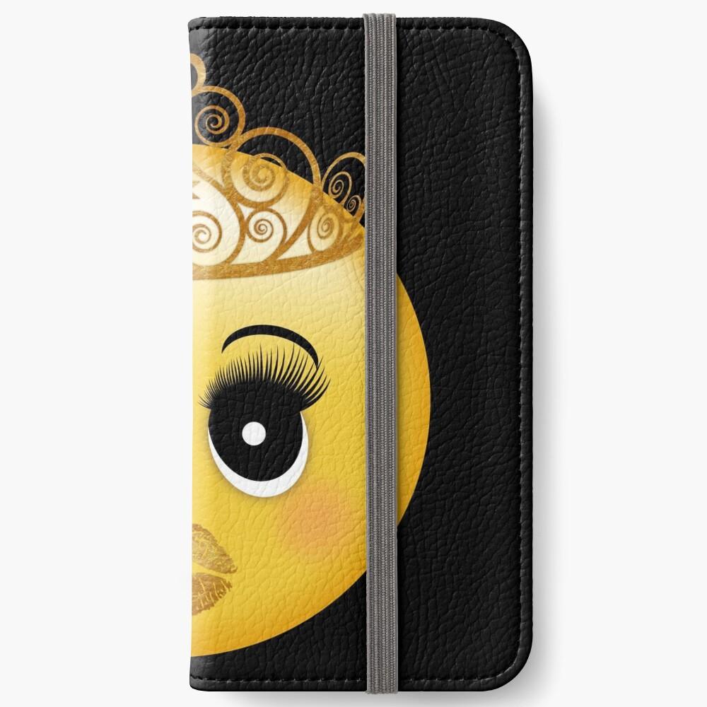 Princess Emoji with Lashes, Gold Lips & Tiara | iPhone Wallet