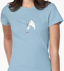Angels love bunnies THIS much Women's Fitted T-Shirt