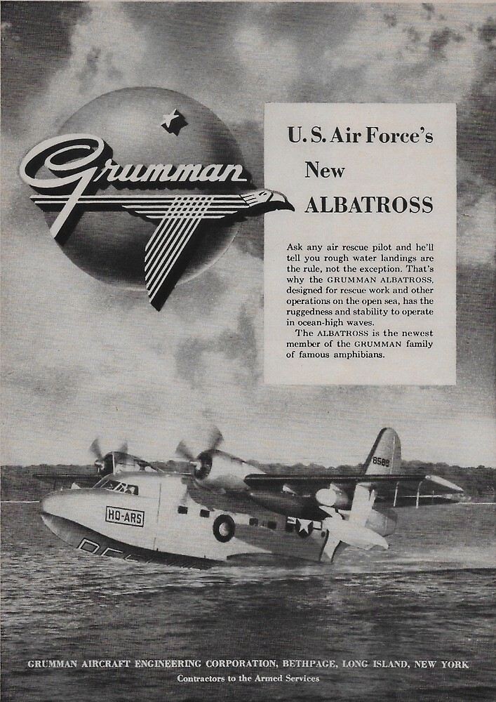Vintage Grumman Albatross ad from 1949 by James-Smullins