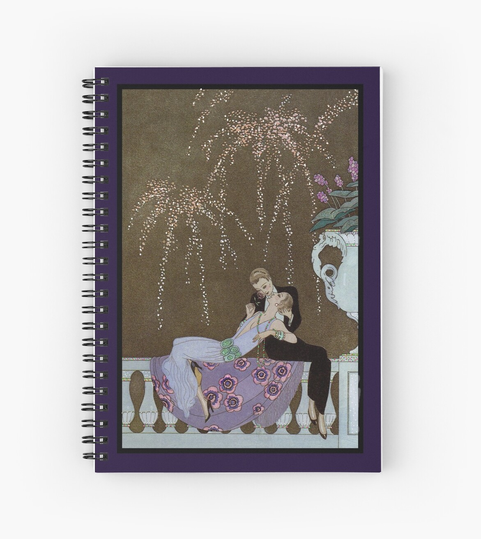 Art Deco Fireworks Kiss by diane  addis