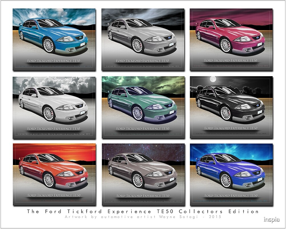 CarsinArt FTE TE50 Colour Collection by inspia