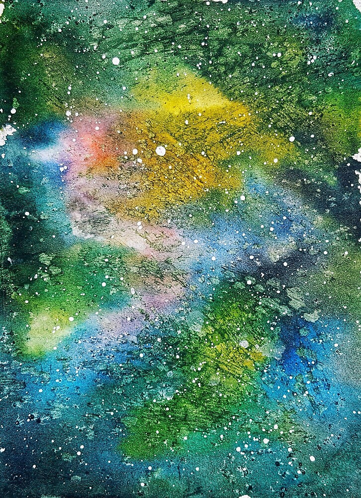Galaxy Watercolor ink painting  by Sutherlandh