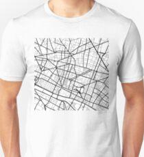 2nd arrondissement - Paris - France - Minimalist Design Map Unisex T-Shirt