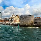 SOUTHSEA CASTLE AND THE SPINNAKER TOWER. by ronsaunders47