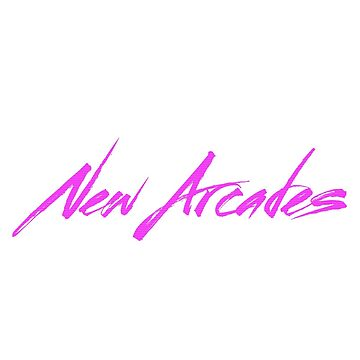 New Arcades - Logo (Pink text) by NewArcades
