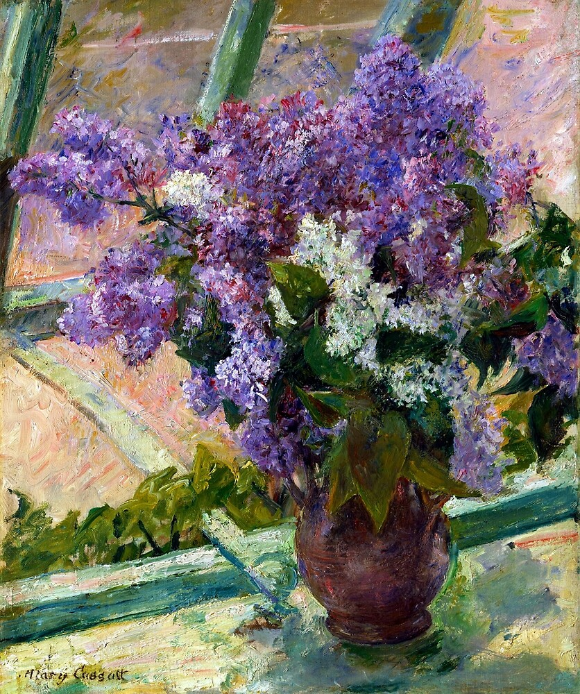 Mary Cassatt Lilacs in a Window by pdgraphics