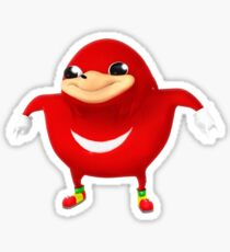 Uganda Knuckles Merchandise Stickers - Do you know da way, da wae, da  Sticker