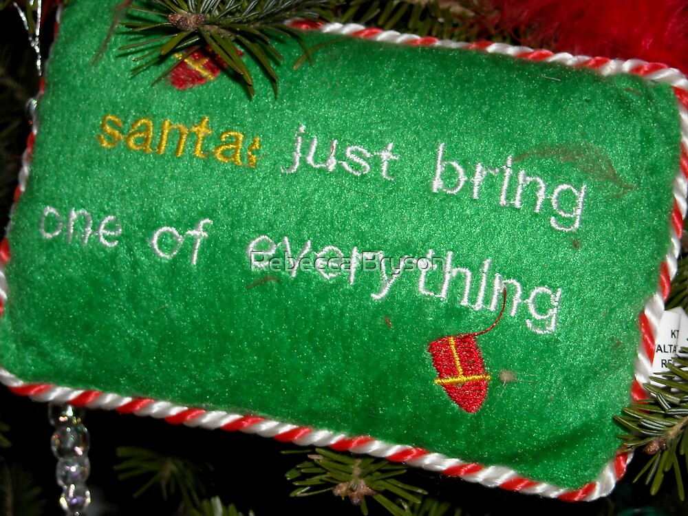 Santa: Just Bring Me One of Everything by Rebecca Bryson