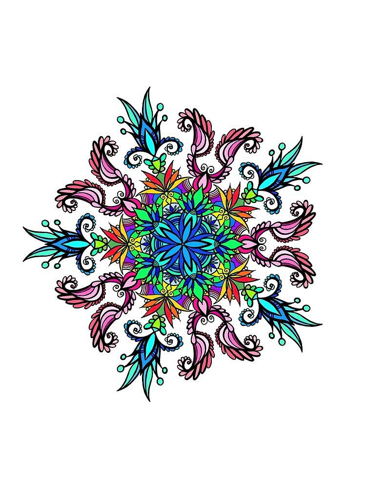 Mandala fleuri coloré  by Muxette