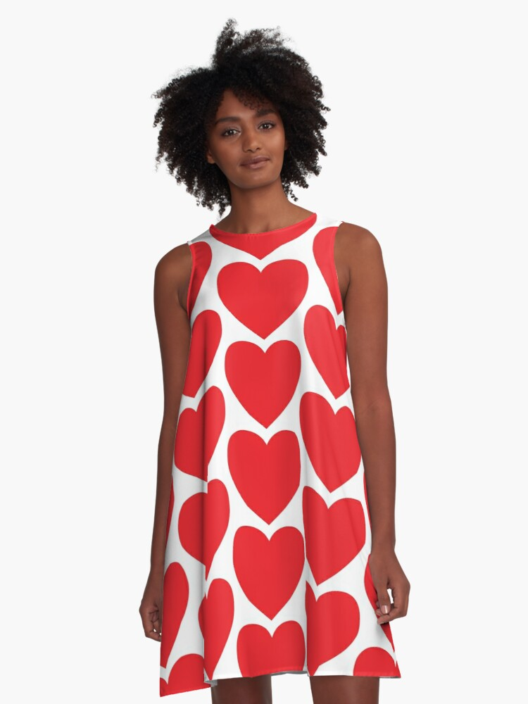 Hearts Hearts Hearts A-Line Dress Front