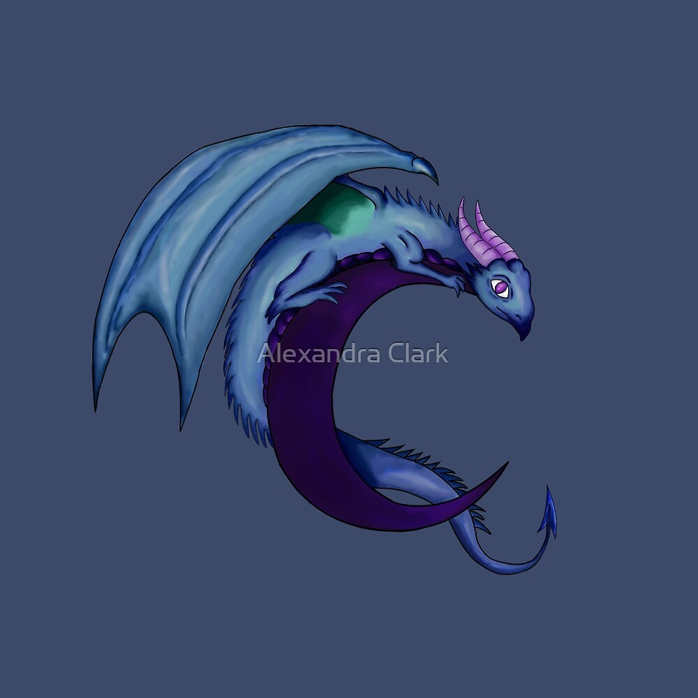 Azurite the Dream Dragon by Alexandra Clark