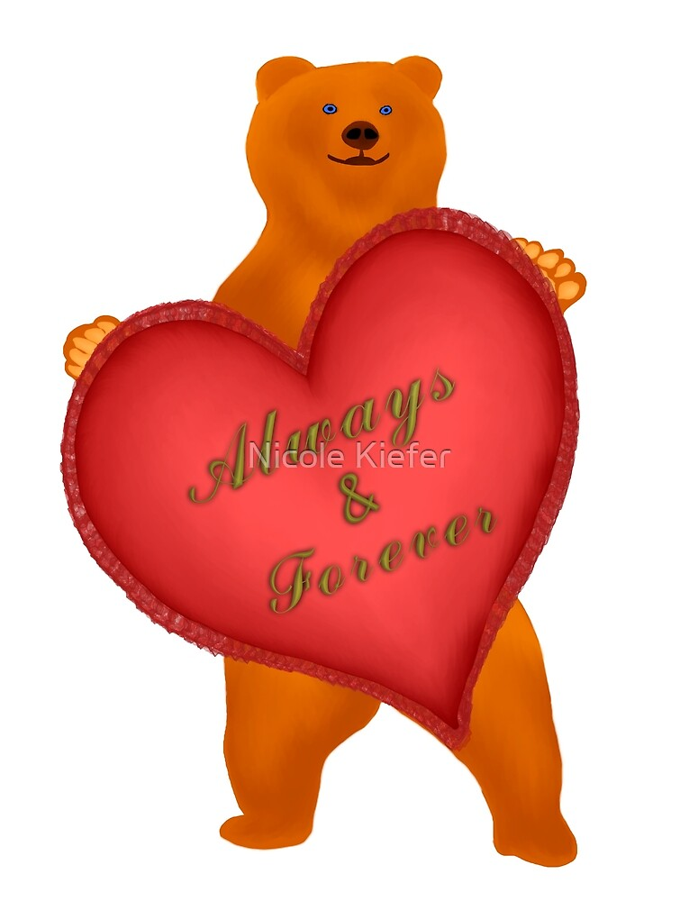 Valentines Bear by Nicole Kiefer