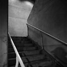 Shadow on the Stairs BW Parking Structure by YoPedro