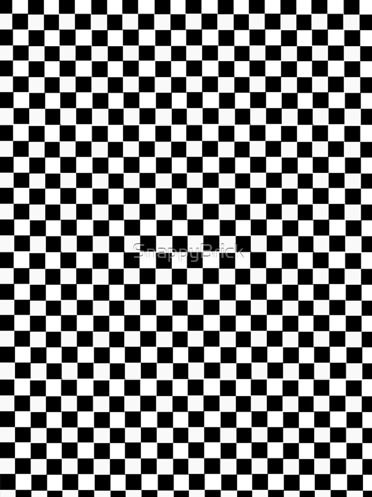 Black and White Checkerboard Patter by SnappyBrick
