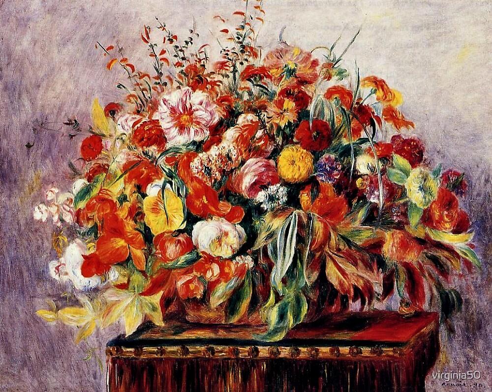 Renoir - Basket of Flowers by virginia50