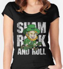 Irish Shamrock and Roll Leprechaun  Women's Fitted Scoop T-Shirt