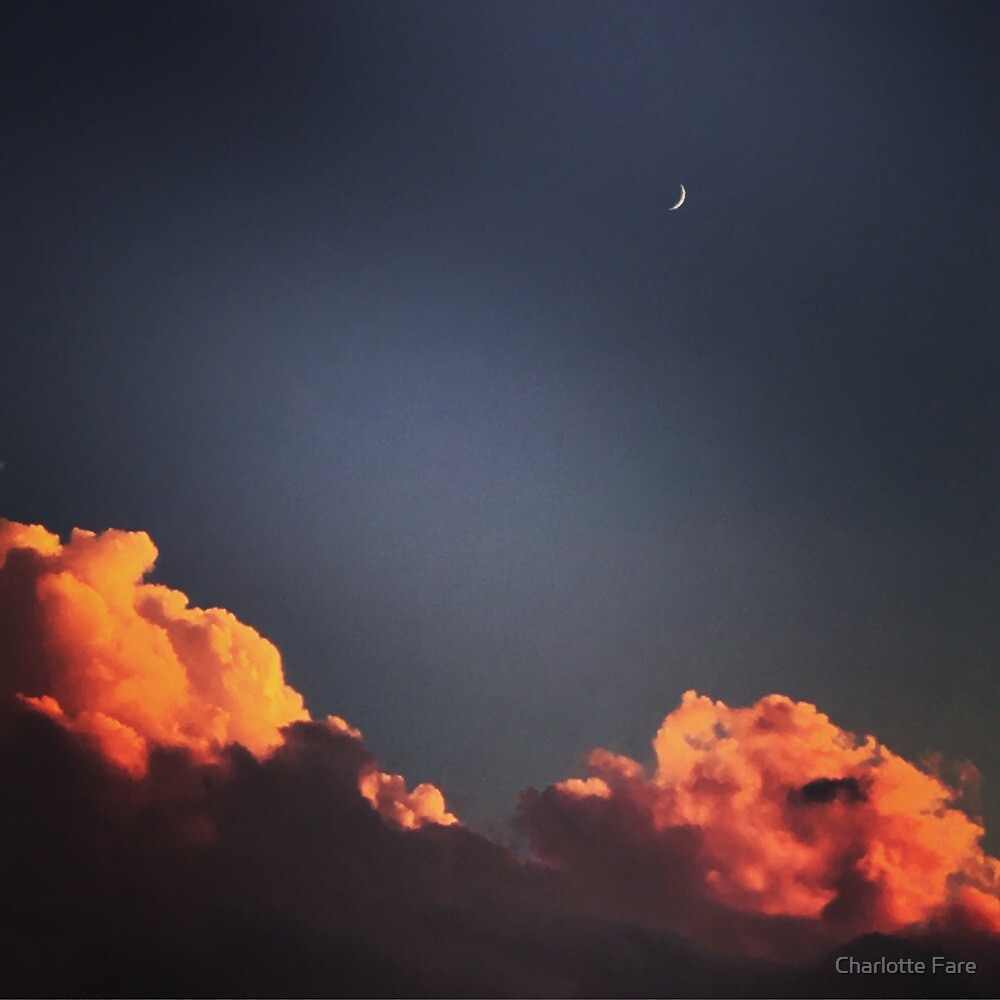 Moon and Clouds by Charlotte Fare