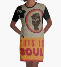 This is Soul Graphic T-Shirt Dress