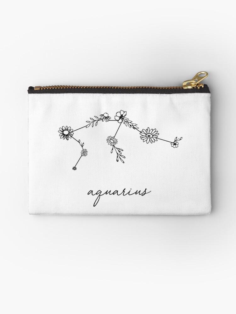 Aquarius Zodiac Wildflower Constellation by aterkaderk