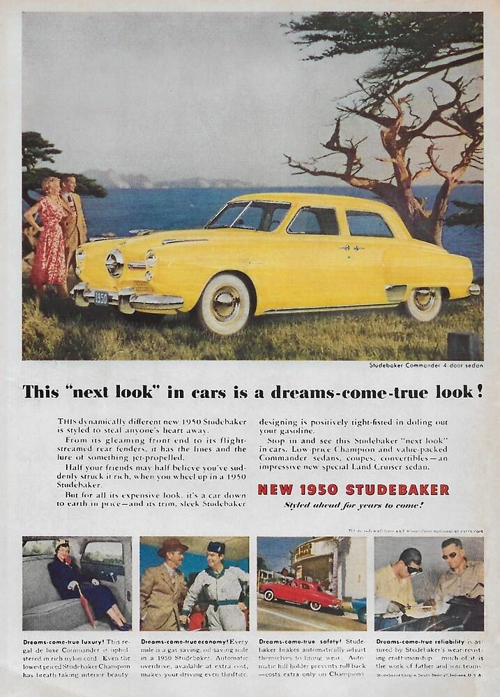 Vintage 1950's Studebaker ad 1949  by James-Smullins