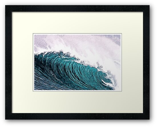 The Big Wave - Digital Art by artedesign
