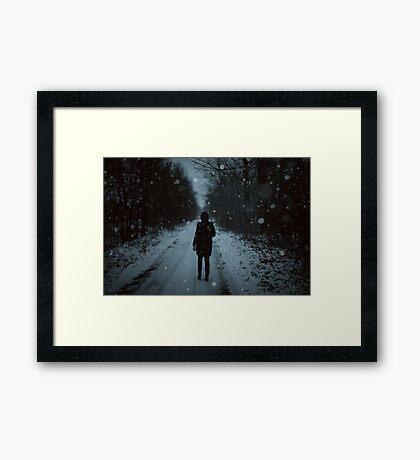 Paseo de invierno Lámina enmarcada