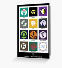 Horoscope Collection 2015  Greeting Card
