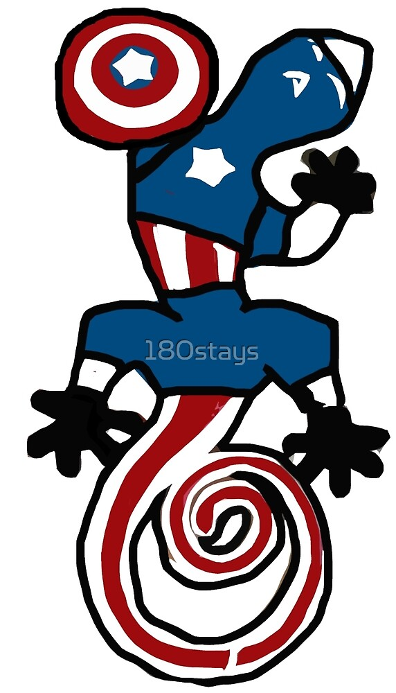 Captain USA the Gecko by 180stays