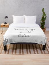 Libra Zodiac Wildflower Constellation Throw Blanket