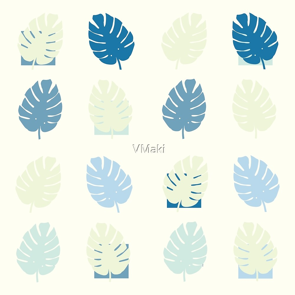 Exotic tropical leaves pastel by VMaki