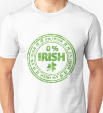 0% Irish St. Patrick's Day Unisex T-Shirt