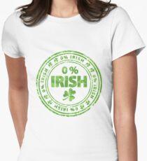 0% Irish St. Patrick's Day Women's Fitted T-Shirt
