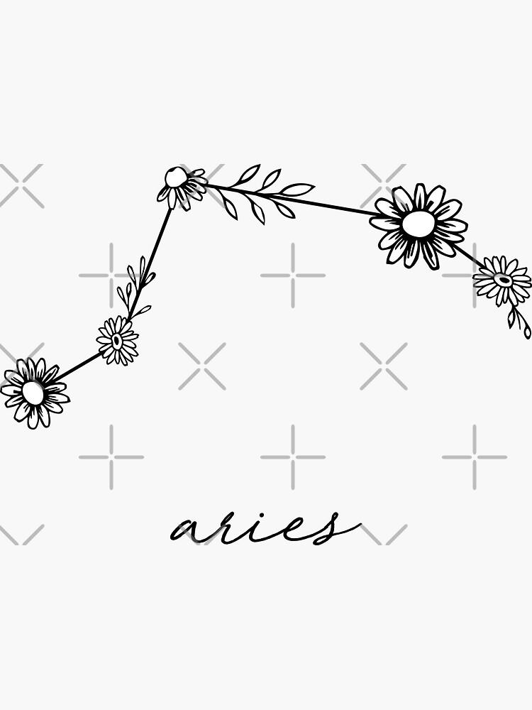 Widder Sternzeichen Wildflower Constellation von aterkaderk