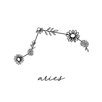 Aries Zodiac Wildflower Constellation by aterkaderk