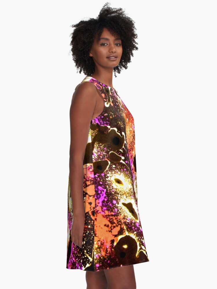 Alternate view of All that Jazz - Abstract  A-Line Dress