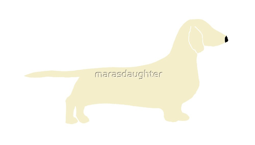 dachshund cream silhouette by marasdaughter