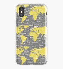 Hello World Languages Gray Yellow iPhone Case/Skin