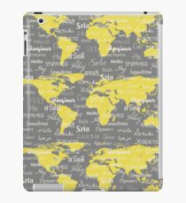 Hello World Languages Gray Yellow iPad Case/Skin
