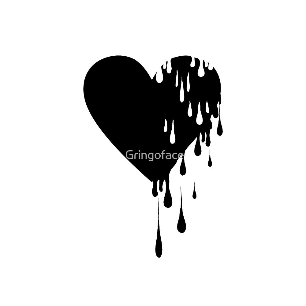 Bleeding Black Heart by Gringoface