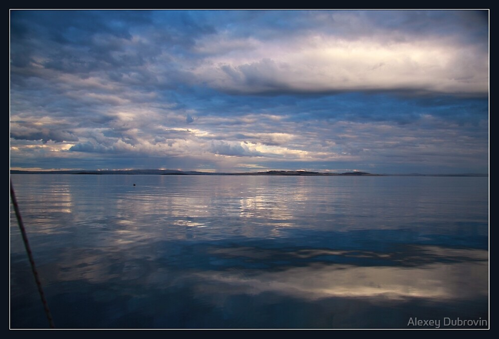 Gloomy morning at Port Lincoln bay. by Alexey Dubrovin