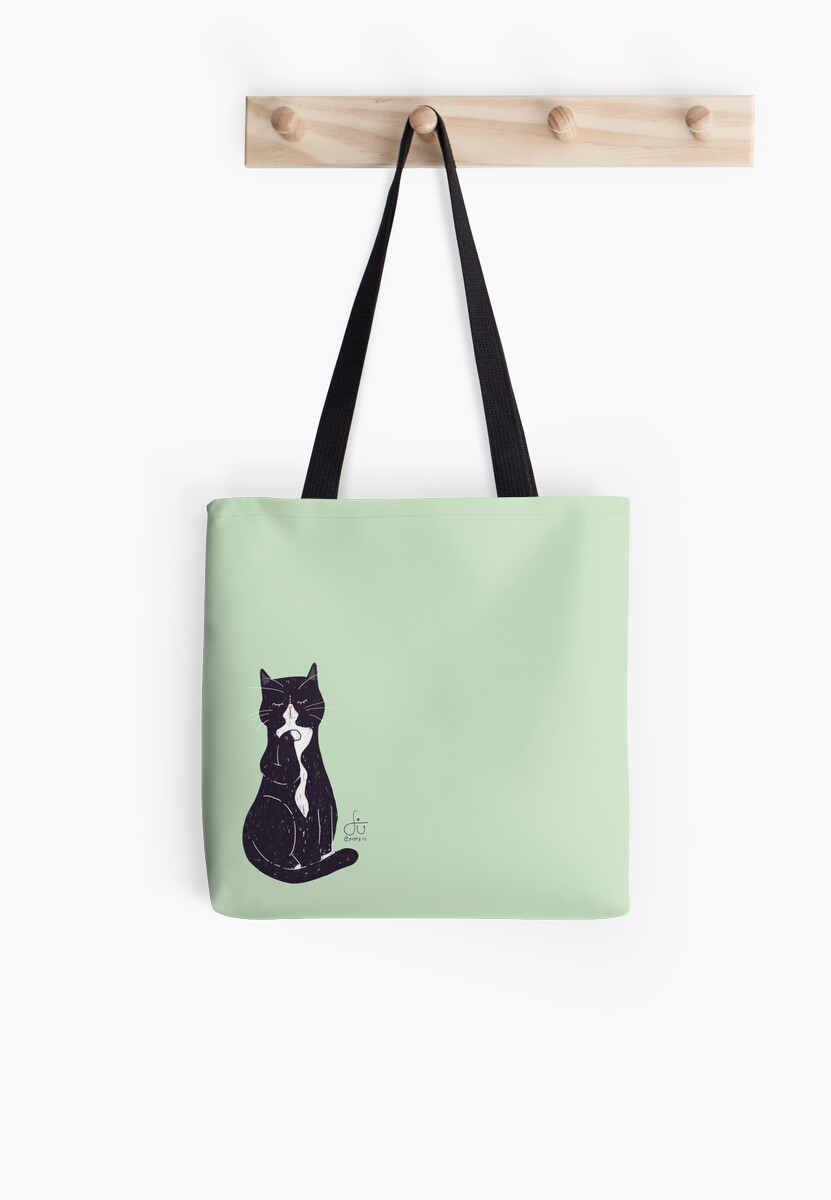 Sneaky Keeka - Cleaning Cat on Green by poppy-is