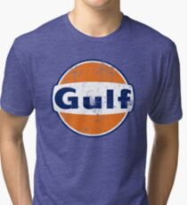 Gulf Racing Retro Tri-blend T-Shirt