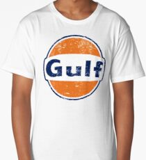 Gulf Racing Retro Long T-Shirt