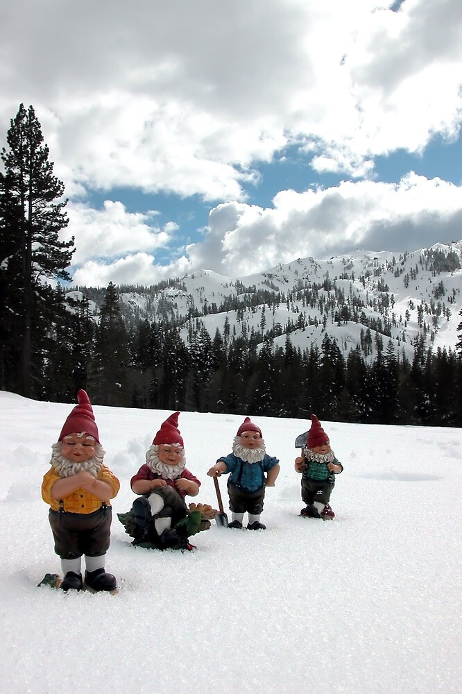 Gnomes in the snow by johncarleton