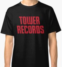TOWER RECORDS TSHIRT - Defunct Record Store Logo Classic T-Shirt