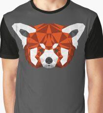 Geometric Red Panda Head  Graphic T-Shirt