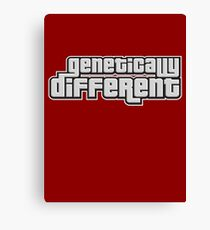 GENETICALLY DIFFERENT Canvas Print
